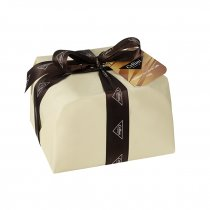 Panettone filled with coffee cream and coffee flavoured chocolate drops